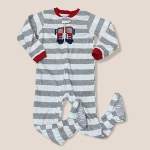 Carters Truck Striped Pajamas Size 5T
